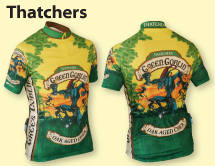 Thatchers Green Goblin cycling jersey design